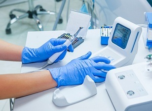 preparing dental laser